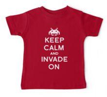 Retro Keep Calm and Invade On Baby Tee