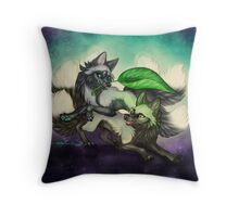 Kitsune Games Throw Pillow