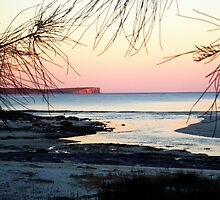 Sunset at Moona Moona Creek by waxyfrog