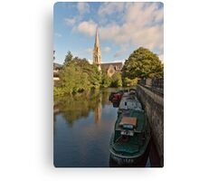 St John Evangelist Church on River Avon Bath Canvas Print