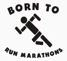 Born To Run Marathons One Piece - Short Sleeve