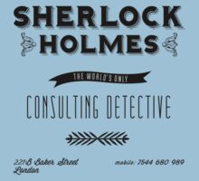Sherlock Holmes' Business Card Kids Clothes