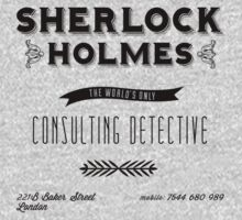 Sherlock Holmes' Business Card One Piece - Long Sleeve