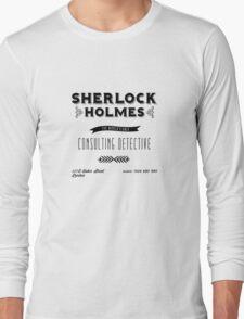 Sherlock Holmes' Business Card Long Sleeve T-Shirt