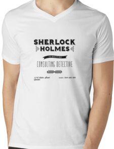 Sherlock Holmes' Business Card Mens V-Neck T-Shirt