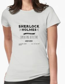 Sherlock Holmes' Business Card Womens Fitted T-Shirt