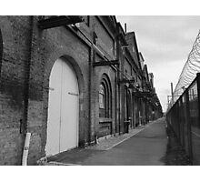 Old factory, exterior, B&W  Photographic Print
