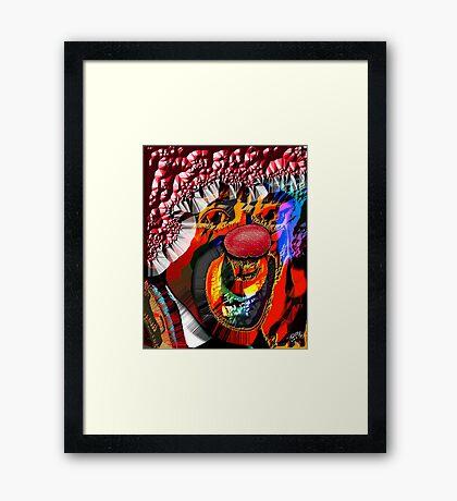 DIRTY RED Framed Print