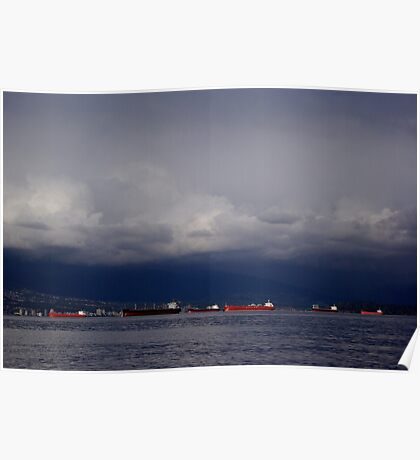 Burrard Inlet, Vancouver Poster