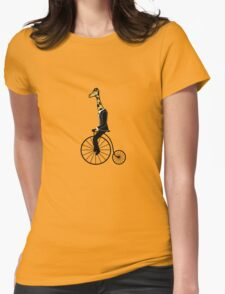 Penny-farthing Giraffe Womens Fitted T-Shirt