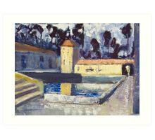 Montsalvat Oil Art Print