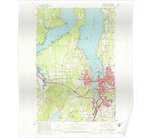 USGS Topo Map Washington State WA Tumwater 244356 1959 24000 Poster