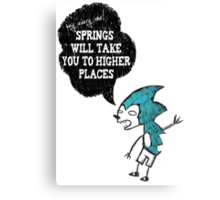 Spring Wisdom Hedgehog Canvas Print