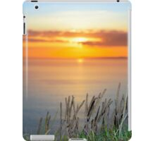 sunset over loop head with the wild tall grass iPad Case/Skin