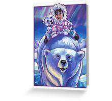 Polar Bear Bus Greeting Card