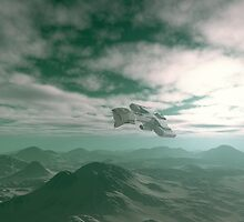 Flying over Blue Hills by algoldesigns