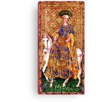 Medieval Lady on Horse Canvas Print