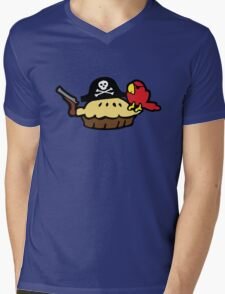 Pie Pirate Mens V-Neck T-Shirt
