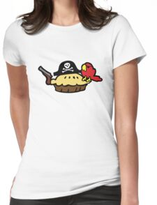 Pie Pirate Womens Fitted T-Shirt