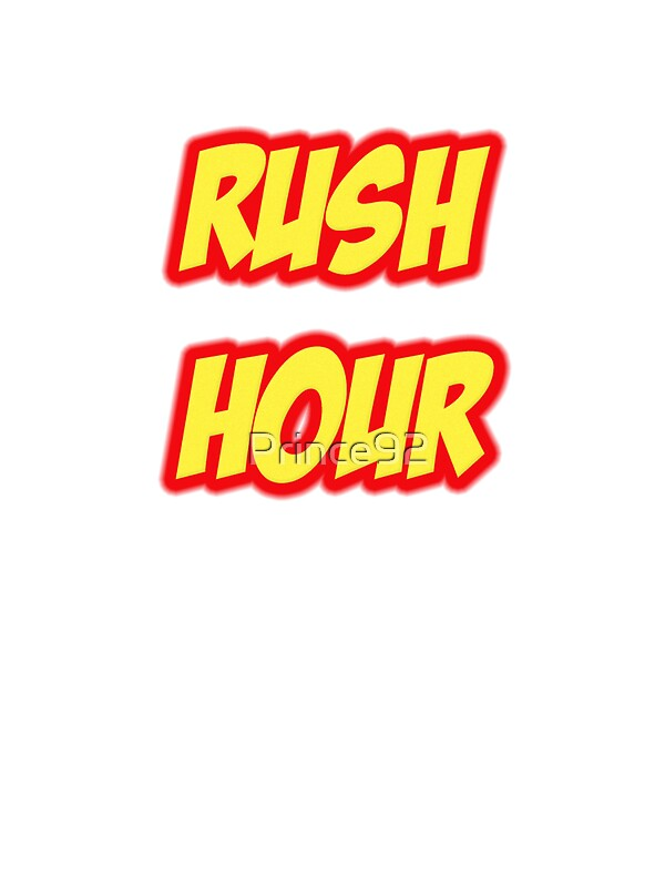 Rush Hour Stickers By Prince92 Redbubble