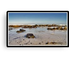 Calm Amongst The Rocks Canvas Print