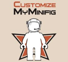 Banksy Style Astronaut Minifig with Customize My Minifig Logo by ChilleeW