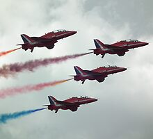 Reds Four With Smoke by mike  jordan.