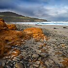Corroded Outcrop - Roaring Beach, Tasmania by clickedbynic