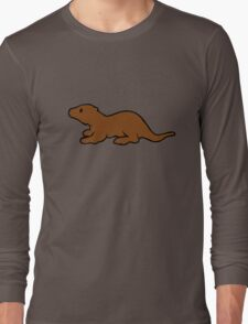 Cute Otter Long Sleeve T-Shirt