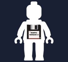 """White Minifig with """"MINIFIG VERSION 1.1"""" slogan by Customize My Minifig  by ChilleeW"""