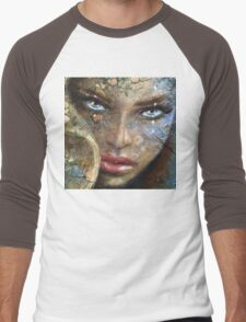 Sensual Eyes Icewater Men's Baseball ¾ T-Shirt