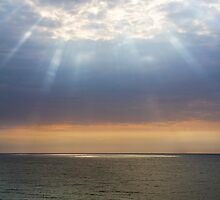 Beach with Glorious Light by Kenneth Keifer