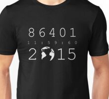 86401 Leap Second 2015 (white version) Unisex T-Shirt