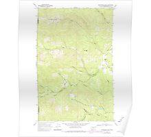 USGS Topo Map Washington State WA Winchester Peak 244738 1968 24000 Poster