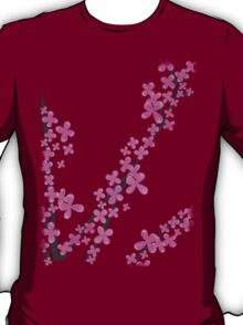 Cherry Blossom on Pink T-Shirt