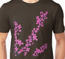 Cherry Blossom on Pink Unisex T-Shirt