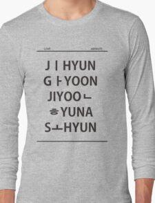 4 minute member name black T-Shirt