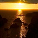sunset over the wild atlantic way by morrbyte
