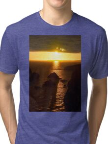 sunset over the wild atlantic way Tri-blend T-Shirt