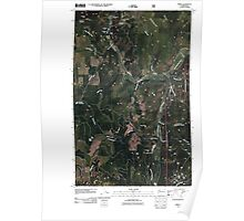 USGS Topo Map Washington State WA Spirit 20110428 TM Poster