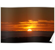 Sunset at the Ocean Poster