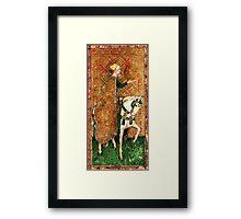 Medieval Lady on Horse Framed Print