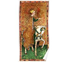 Medieval Lady on Horse Poster