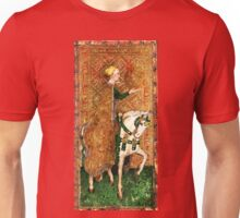 Medieval Lady on Horse Unisex T-Shirt
