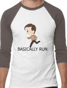 Basically Run Men's Baseball ¾ T-Shirt