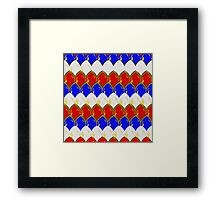 Red White & Blue with Gold Dragon Scales Framed Print