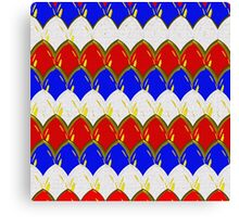Red White & Blue with Gold Dragon Scales Canvas Print