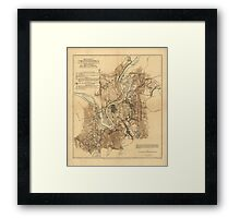 Civil War Battlefield of Chattanooga Map Nov. 23-25 1863 Framed Print