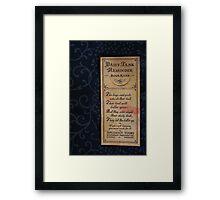 1920s Bookmark Framed Print