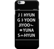 4 minute member name white iPhone Case/Skin